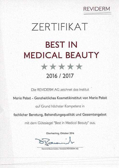 Reviderm Best in Medical Beauty - Maria Pabst